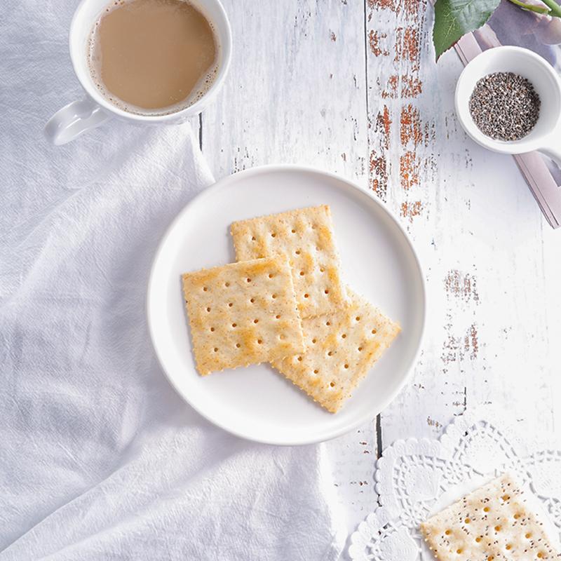 12月01日最新优惠Easy Fun高纤奇亚籽苏打饼干 低健身代餐粗粮卡抗饿消磨时间的小