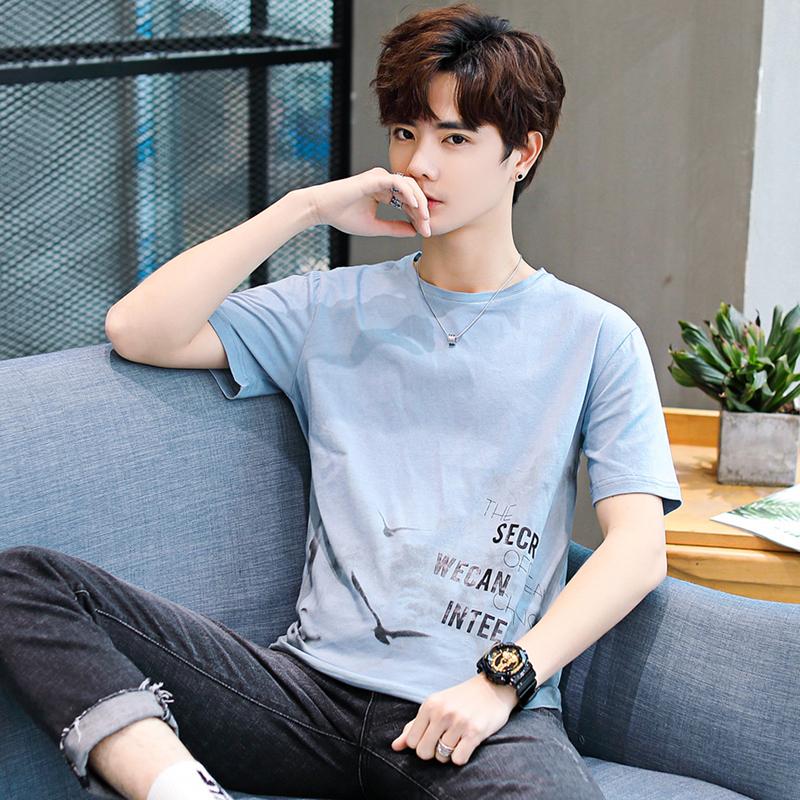 【現在下單56元】男士短袖t恤純棉夏季新款韓版潮牌港風ins體恤男
