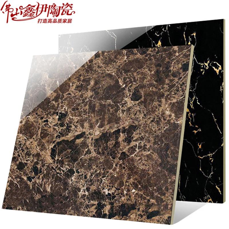 黑金花大理石材 黑色瓷砖800x800全抛釉地砖 踢脚线 过门石