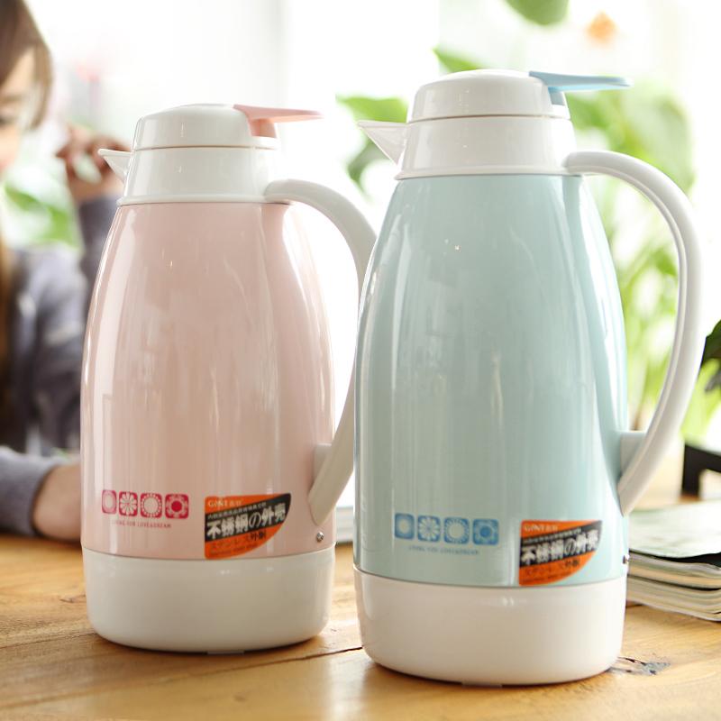 嘉特保溫壺不鏽鋼玻璃內膽咖啡壺熱水瓶家用暖水壺保溫瓶歐式暖壺