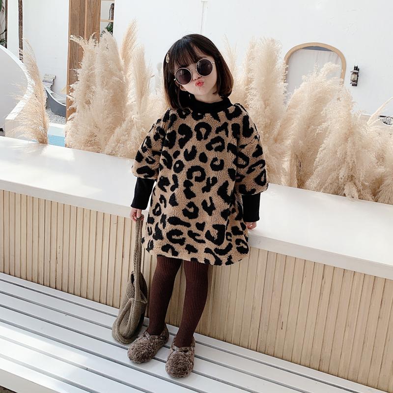 加厚加绒2020冬新款女童洋气卫衣裙