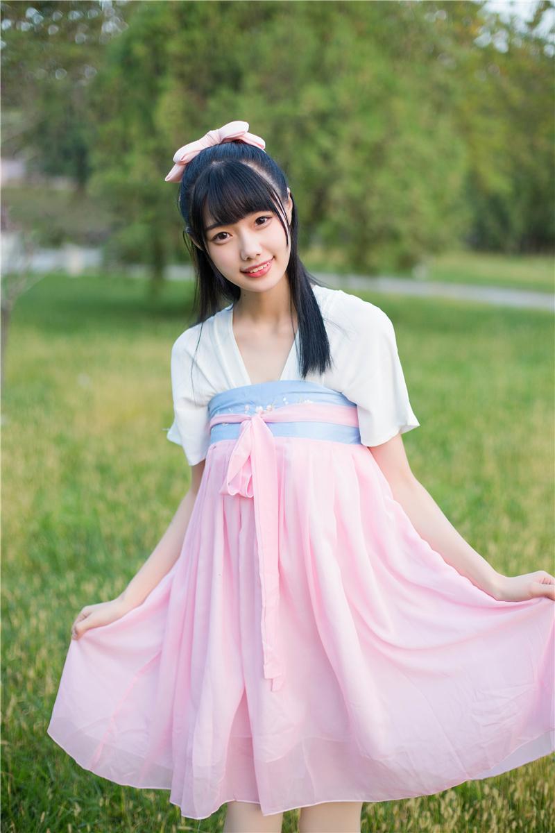 新汉元素古装服装齐胸襦裙古风连衣裙仙女装唐装学生日常改良汉服