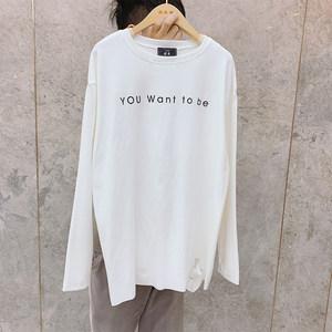 【加厚大白t】舒适宽松白色字母t恤