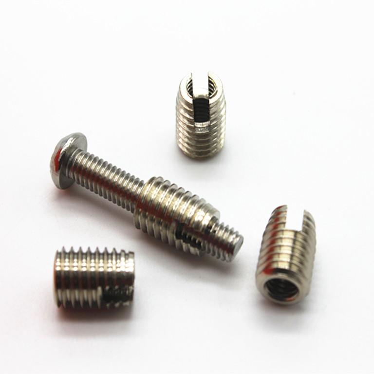 铜镀镍内外牙螺母 自攻螺纹套.衬套/自攻牙补芯螺母M4 814*2 6 10
