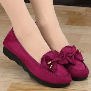 老北京布鞋 平底豆豆鞋 女夏平跟浅口时尚 妈妈舒适软底工作鞋 孕妇鞋
