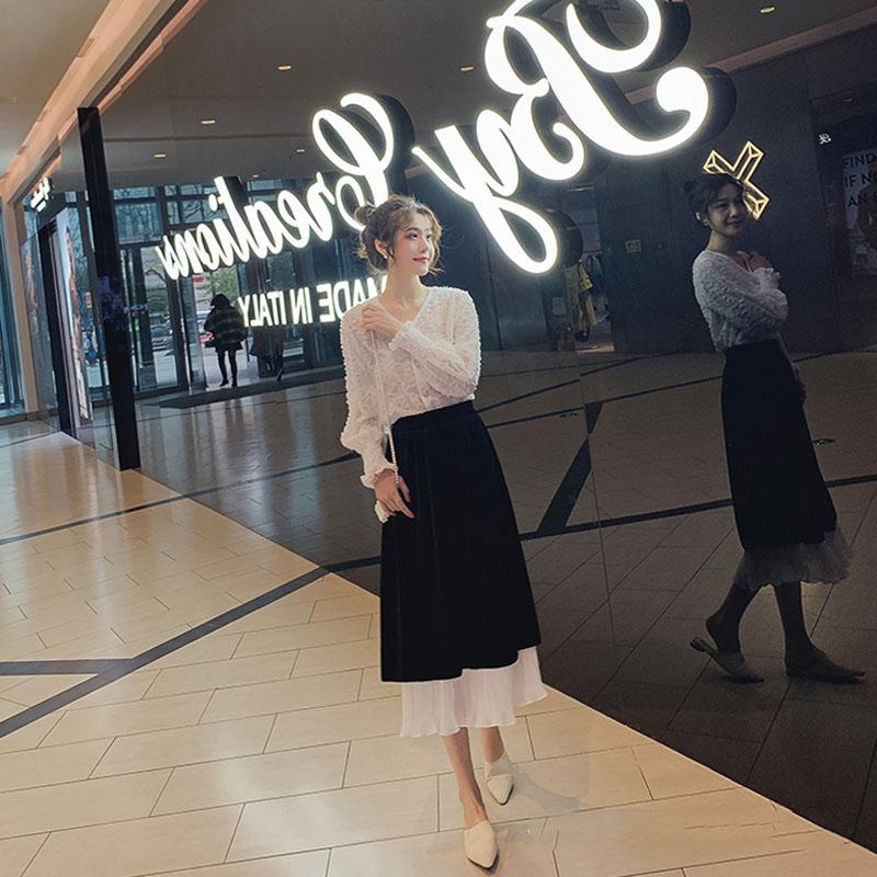 初秋装2020年新款女装胖mm大码连衣裙女神范两件套装气质减龄显瘦