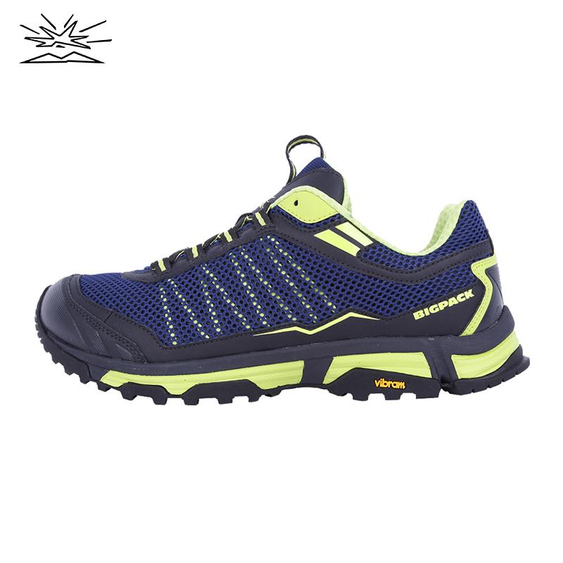 BIGPACK派格男款徒步越野跑步鞋户外运动鞋减震耐磨透气运动鞋
