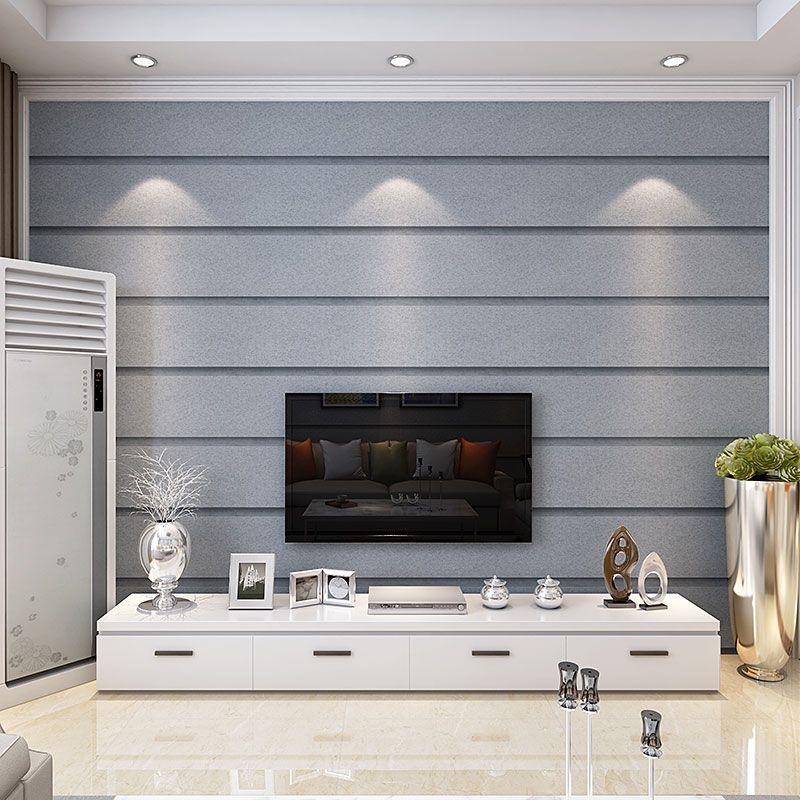 简约现代卧室餐厅无纺布壁纸3D立体大理石竖条纹客厅电视背景墙纸