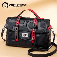 Jules leather handbag autumn and winter women's bag 2019 new fashion first layer cow leather temperament goddess Single Shoulder Messenger Bag
