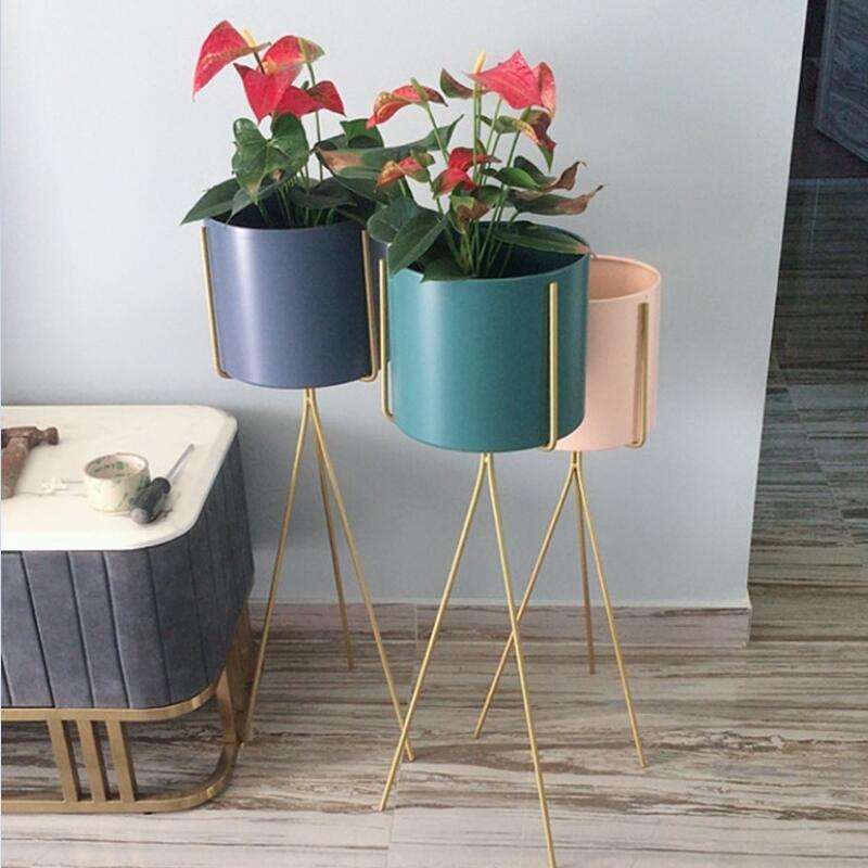 北欧铁艺花架落地式绿植物架创意阳台置物架室内客厅店铺装饰花架