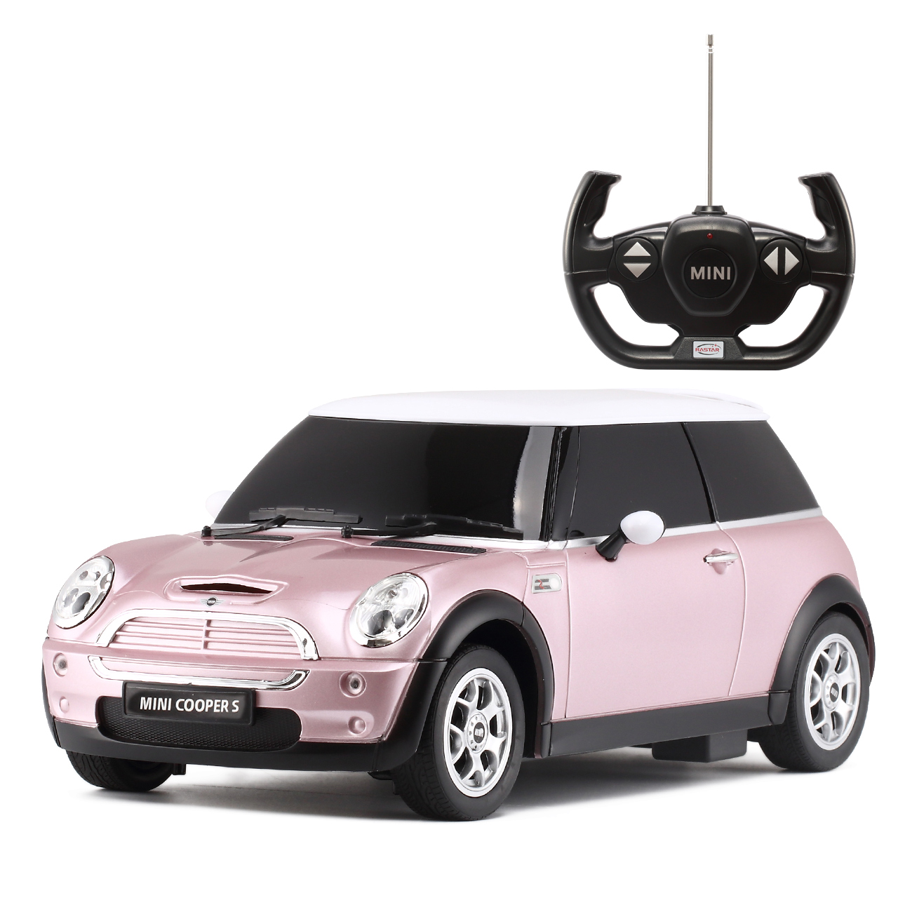 Rastar 星輝寶馬MINI電動遙控車兒童玩具遙控汽車寶馬車模型1:14