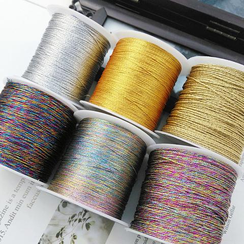金丝银丝股线小卷 diy手工编织绕线材料塔线细流苏股线珍珠缠绕线