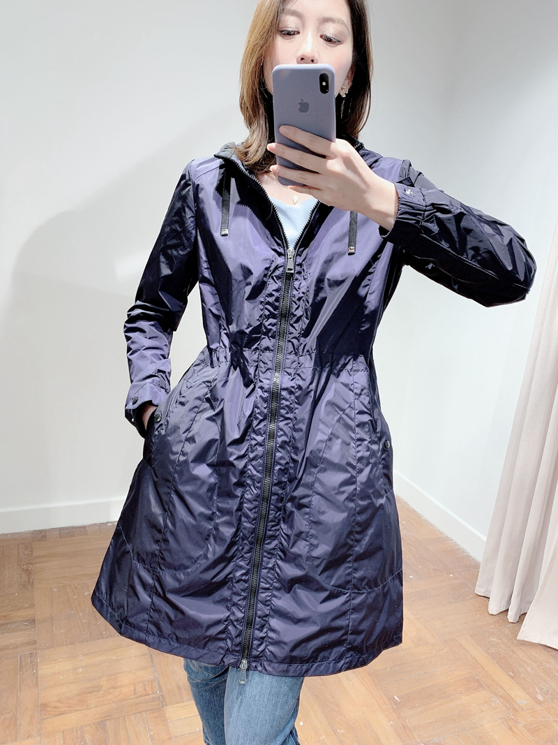 Crazy praise! Powerful goods! Fashionable to Feiqi customer supplied waterproof medium and long hooded windbreaker