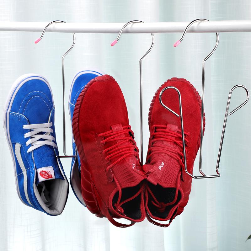 5只装不锈钢晾鞋架晒鞋架多功能阳台窗户挂钩晒鞋架子防风挂鞋架