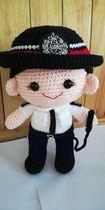 来图定制毕业手工玩偶送礼手勾毛线编织布偶警察女警官护士公仔