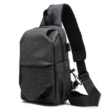 Men's Single Shoulder Crooked Canvas Recreational Small Backpack Chao Brand Men's Bag ins