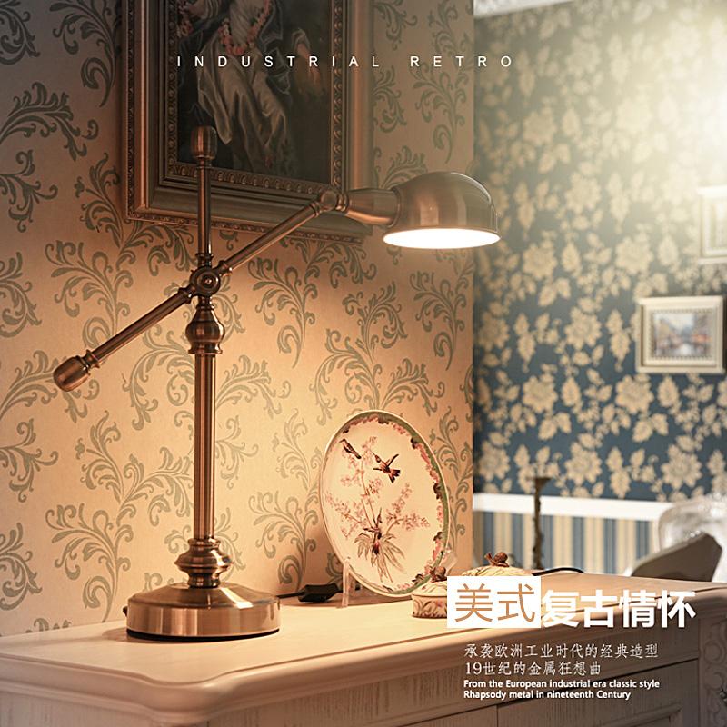 アメリカーノスタンド復古金属アイアン欧風リビング装飾書斎デスクデスク寝室ヘッドランプ