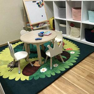 卡通儿童房地毯公主宝宝爬行垫客厅卧室床边毯幼儿园益智毯可水洗
