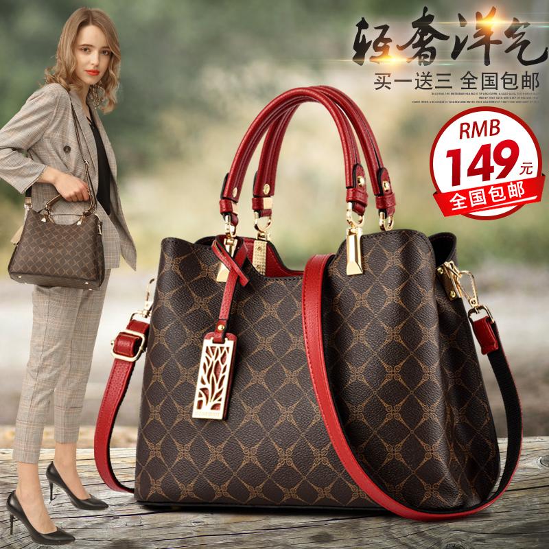 香菲袋鼠时尚真皮女士包包2020新款手提斜跨中年妈妈礼物百搭皮包