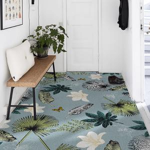 美式ins入户门地垫进门家用地毯门厅丝圈脚垫入门垫定制可裁剪DIY