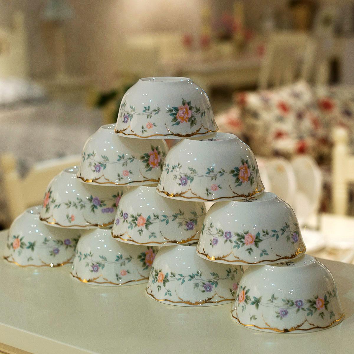 老瓷匠碗碟套裝 景德鎮日用陶瓷器歐式餐具套裝骨瓷碗盤餐具包郵