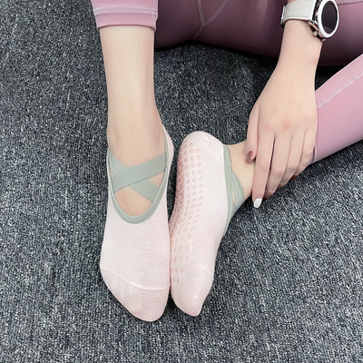 健身女孩防滑瑜伽襪專業空中瑜伽鞋舞蹈襪子軟底透氣運動短襪薄款