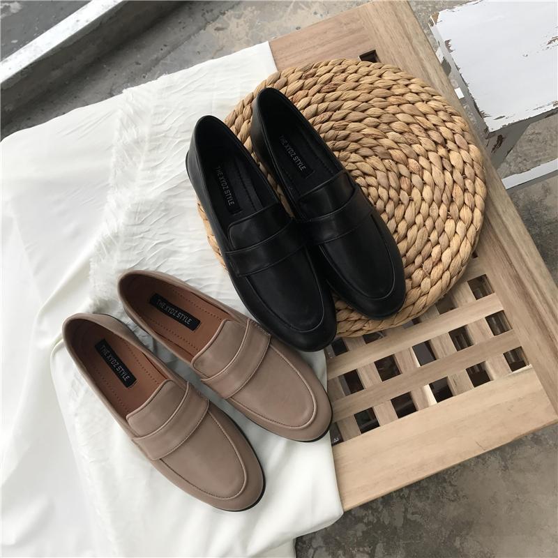 ins黑色英伦复古2019春季小皮鞋满59元可用3元优惠券