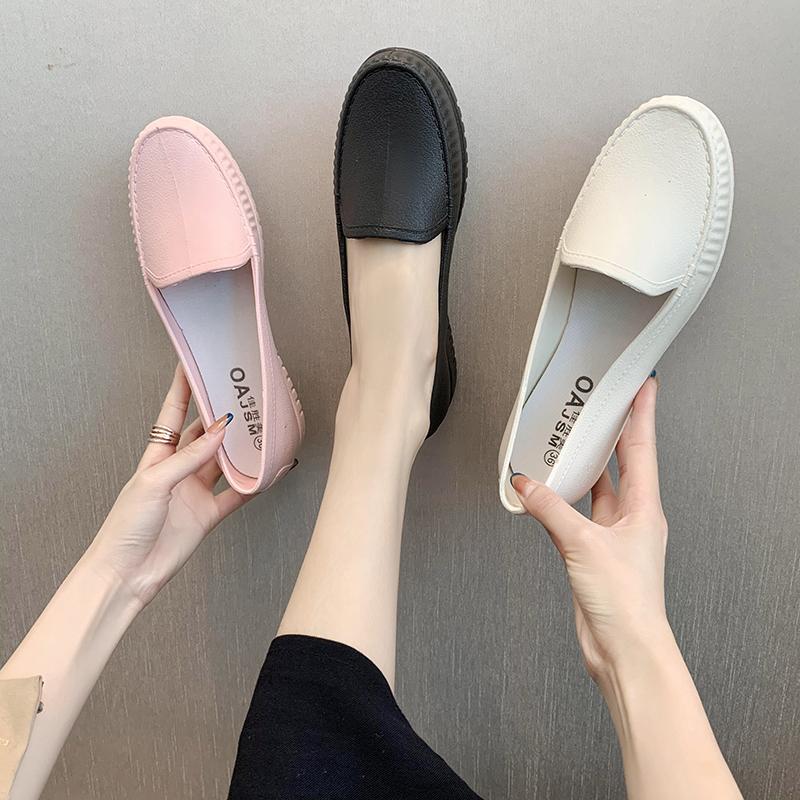 闺密时尚厚底防滑雨鞋女小白鞋学生加厚百搭雨靴胶鞋水鞋防水短筒