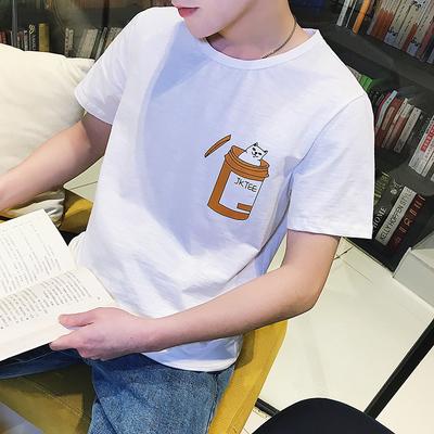 2018夏季新款韩版修身圆领短袖t恤 T61 P35 控价45