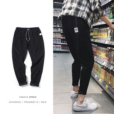 2018春夏韩版新款男士灯芯绒裤子 K129 P35 控价48