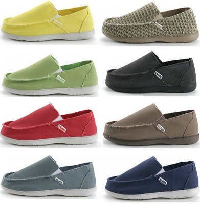 Spring single shoe mens shoes canvas shoes breathable casual shoes light one foot flat bottomed candy loafers womens shoes