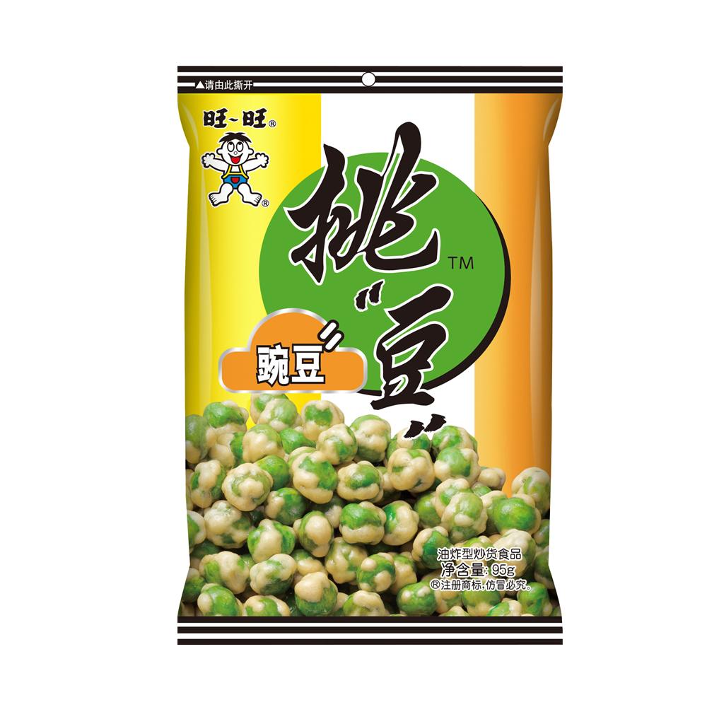 【天猫超市】旺旺 挑豆 豌豆 95g 休闲零食 豆类坚果炒货下酒菜