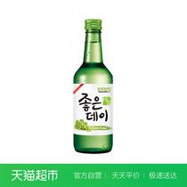 瓶蜜桃味原装进口360ml洋酒好天好饮果味酒进口清酒韩国烧酒