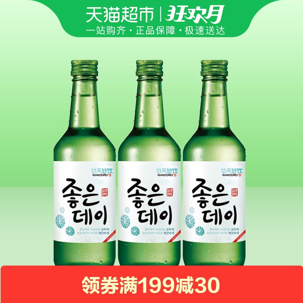 韩国进口 好天好饮原味配制酒韩国烧酒清酒 16.9%VOL 360ml*3