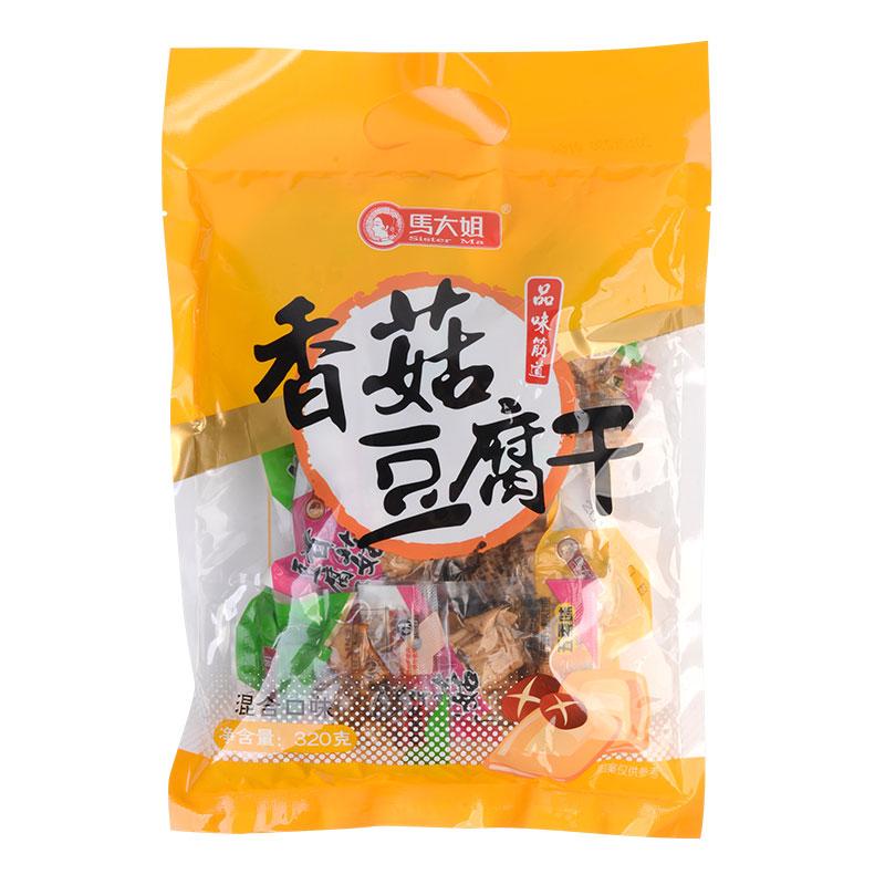 马大姐香菇豆腐干素食香干豆干混合口味320克/袋