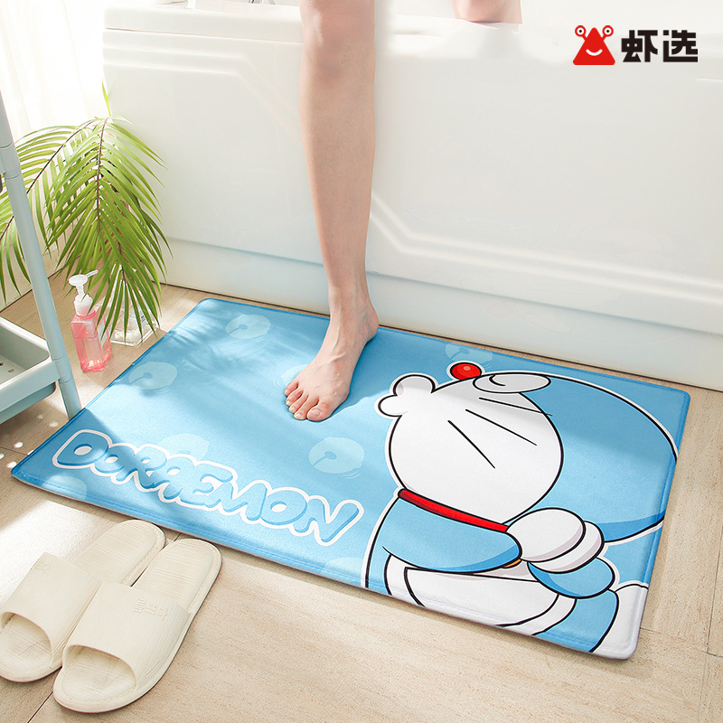 【虾选包邮】正版哆啦a梦卫生间脚垫