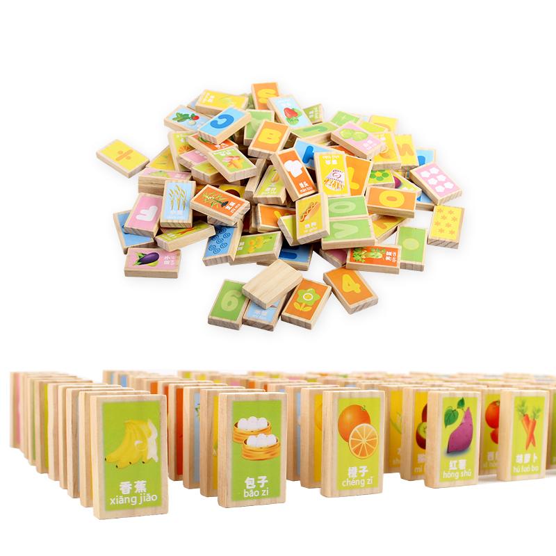Надпись башня деревянный строительные блоки 100 зерна китайский иероглиф домино кость карты ребенок головоломка игрушка 1-3-6 полный год ребенок грамотность