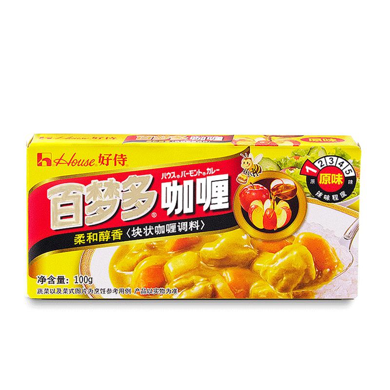 【天猫超市】好侍百梦多咖喱 原味1号100克house块状咖喱营养均衡