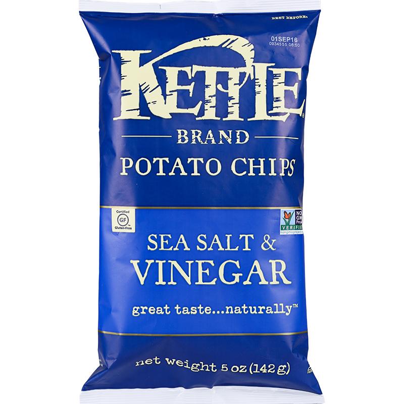 ~天貓超市~美國 可特Kettle Brand 薯片海鹽醋味142g 包零食