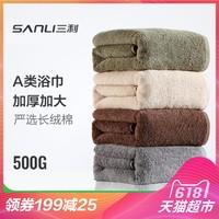 Полотенце полотенце Sanli чистый хлопок для взрослых мягкий мужские и женские утепленный Увеличить полотенца для волос для влюбленной пары Банные полотенца 1 полосатый