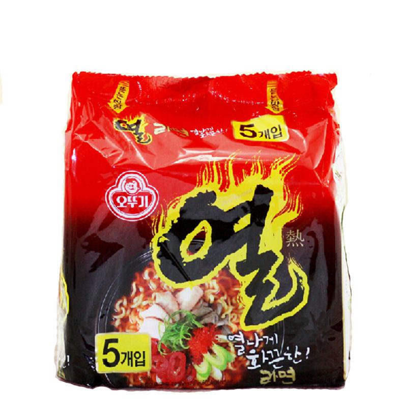 ~天貓超市~韓國 不倒翁火熱拉麵油炸方便麵5連包600g 袋