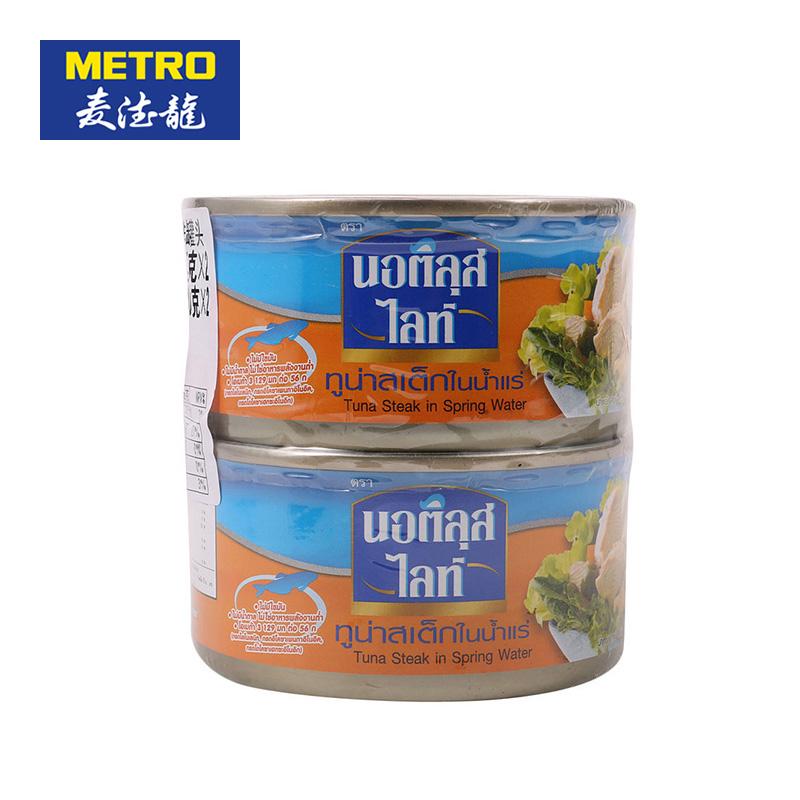 ~天貓超市~麥德龍泰國 樂味鮮泉水浸金槍魚排罐頭 185g^~2