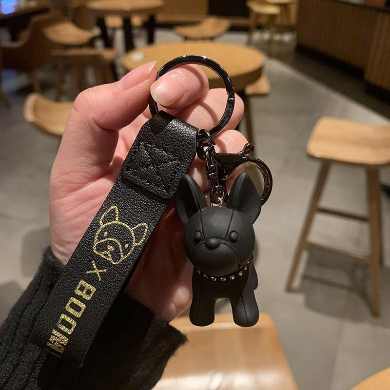 法斗小狗钥匙扣潮流公仔柴犬钥匙链创意汽车钥匙圈情侣闺蜜小礼物