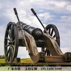 大炮雕塑仿真大炮玻璃钢树脂大炮风水摆件防铜大炮军事武器模型
