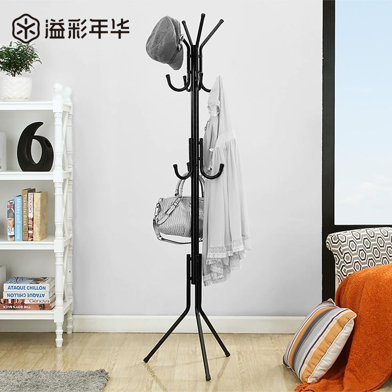溢彩年华衣帽架落地时尚铁艺衣架子创意挂衣架卧室门厅简易衣服架
