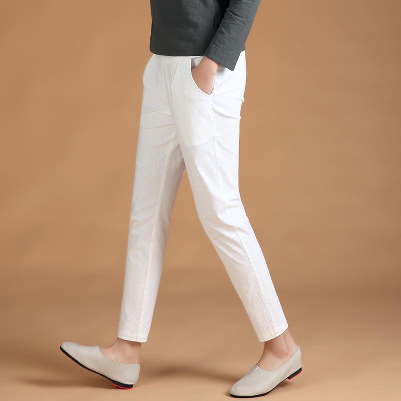 休闲裤女九分裤显瘦弹力女裤大码宽松哈伦裤高腰小脚裤夏季女裤子