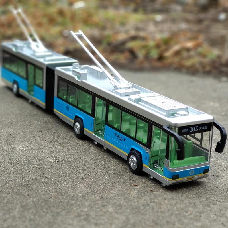 合金�p�公交�大巴加�L��模型�艄饪蛙�真人�Z音效回力巴士玩具