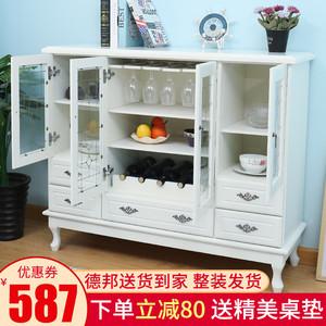 欧式餐边柜实木轻奢厨房置物柜子客厅靠墙储物酒柜现代简约茶水柜