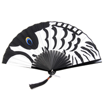 Fan Classical Chinese wind man with ancient style small folding fan women carp folding portable Japanese anime fan summer