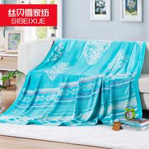 超凉爽竹纤维毛巾被子双人毯子夏季单人薄款冰丝毯盖毯纯棉夏天